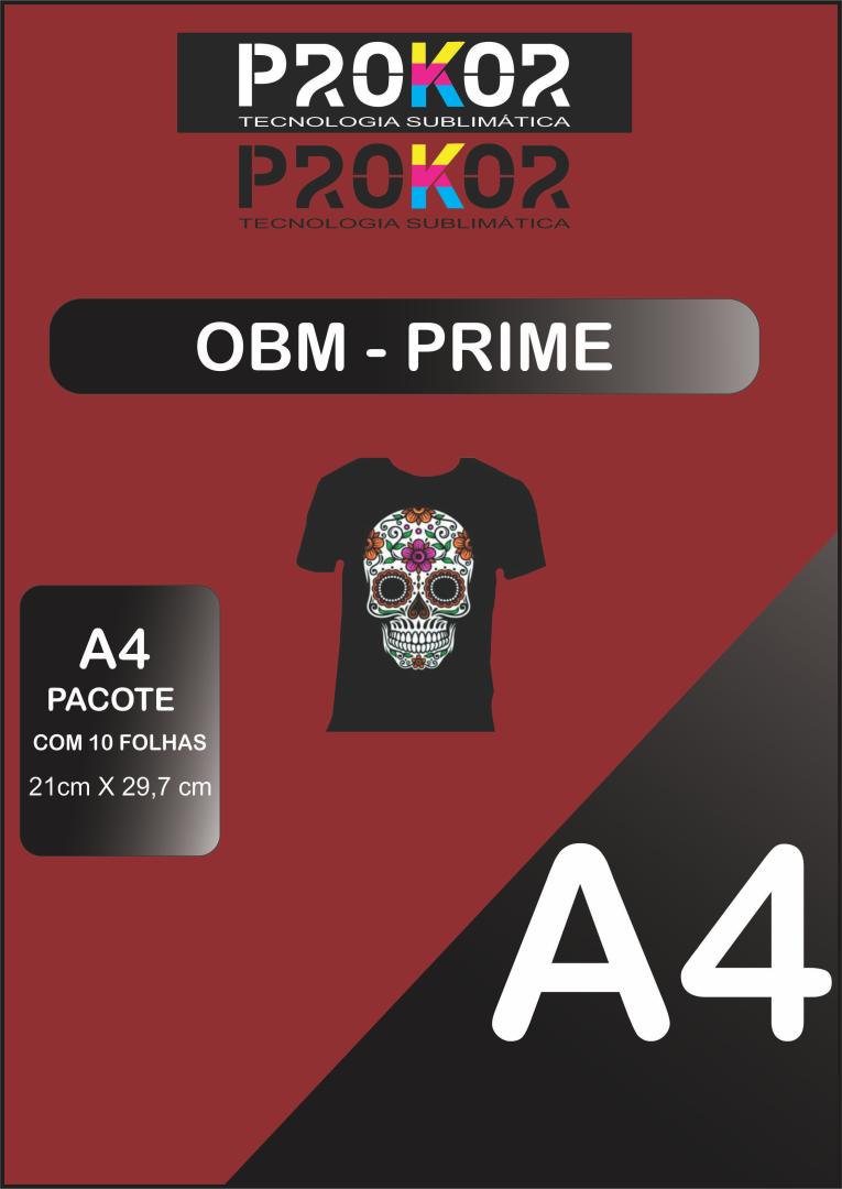 OBM Prime para Sublimação A4 - Pacote com 10 folhas