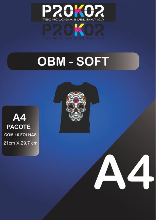 OBM Soft para Sublimação A4 - Pacote com 10 folhas