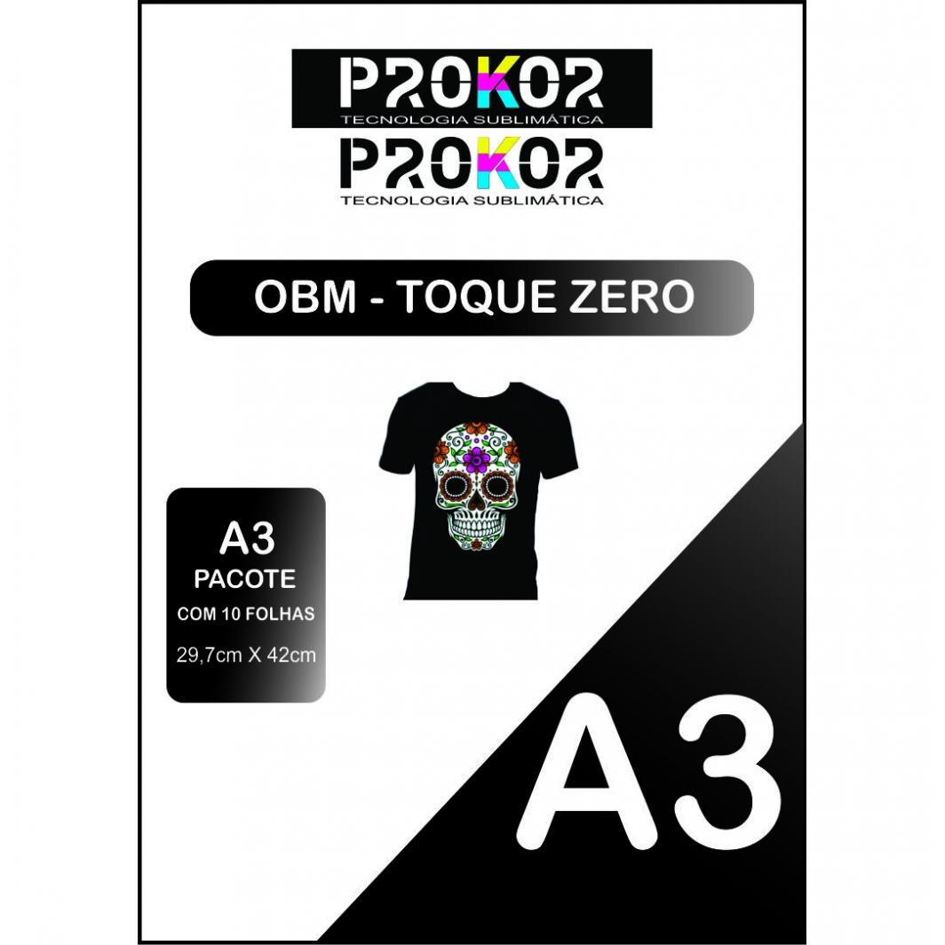 OBM Toque Zero para Sublimação A3 - Pacote com 10 folhas