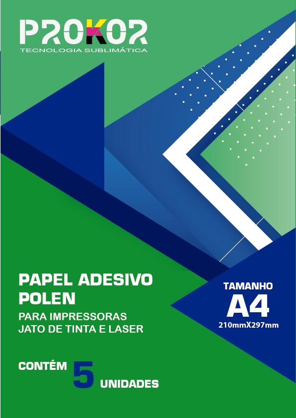 Papel Adesivo Polen - A4 com 5 Folhas