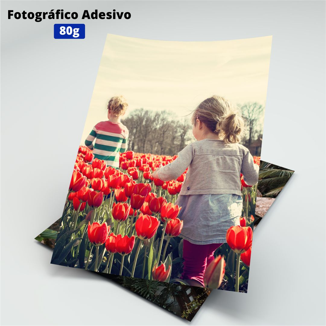 Papel Fotográfico Adesivo - 80g - Masterprint - A4 - 20 Folhas