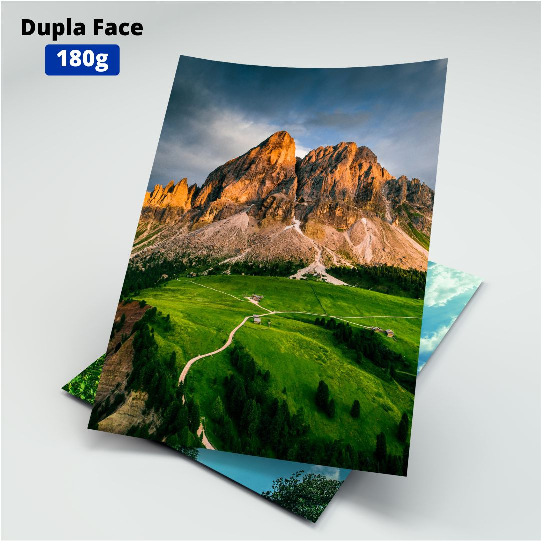 Papel Fotográfico Dupla Face 180g - Masterprint - A4 - 20 Folhas