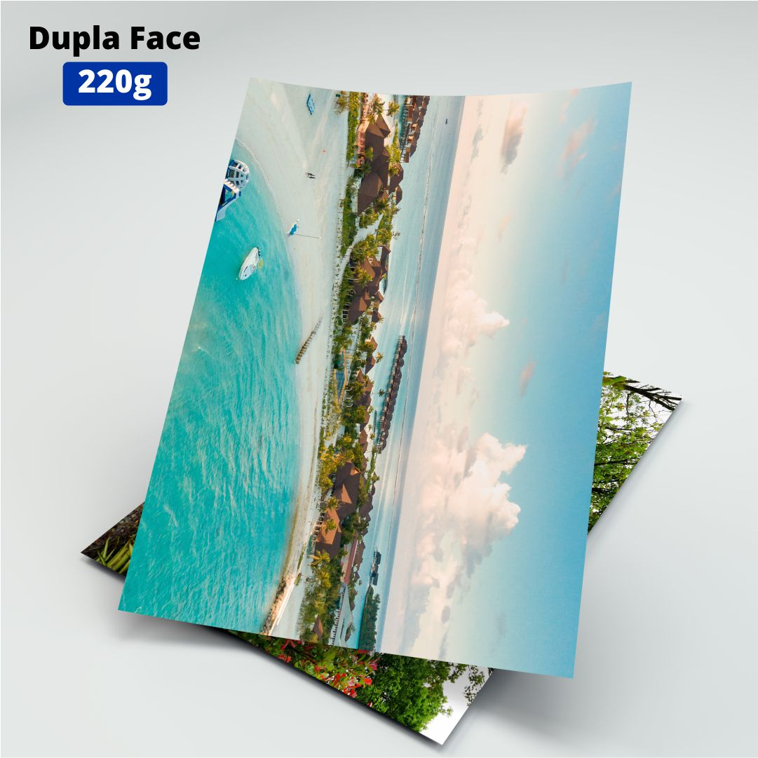 Papel Fotográfico Dupla Face 220g - Masterprint - A4 - 20 Folhas