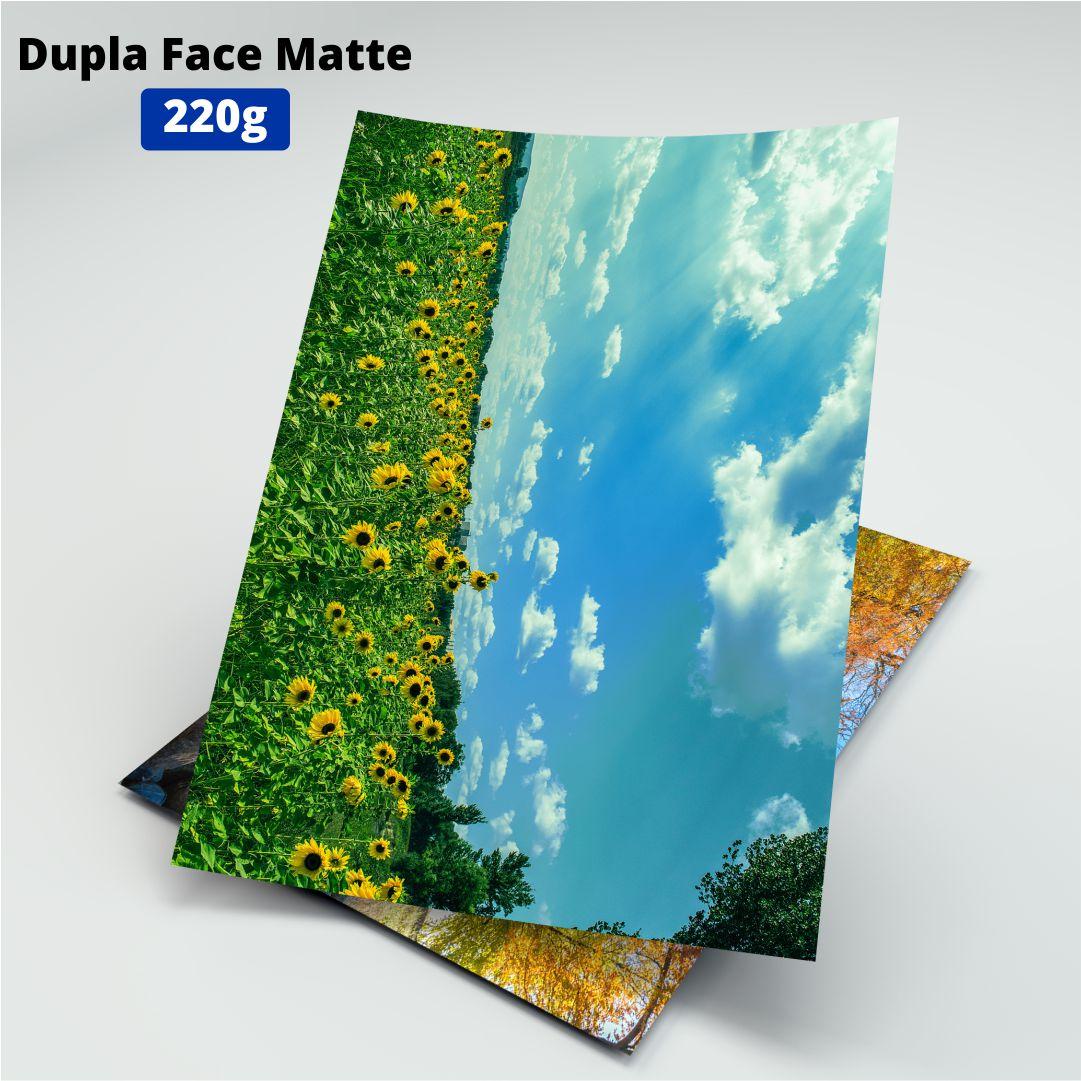 Papel Fotográfico Dupla Face Matte - 220g - Masterprint - A4 - 100 Folhas