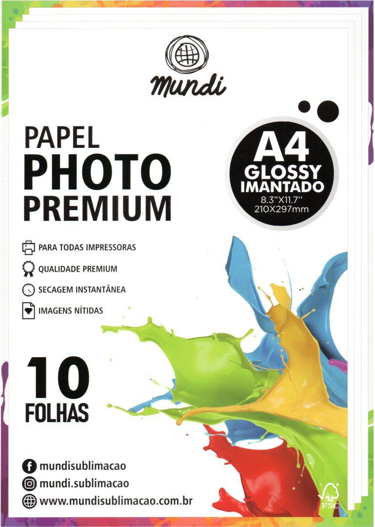 Papel Fotográfico Imantado - Premium Glossy - 680g - 10 Folhas