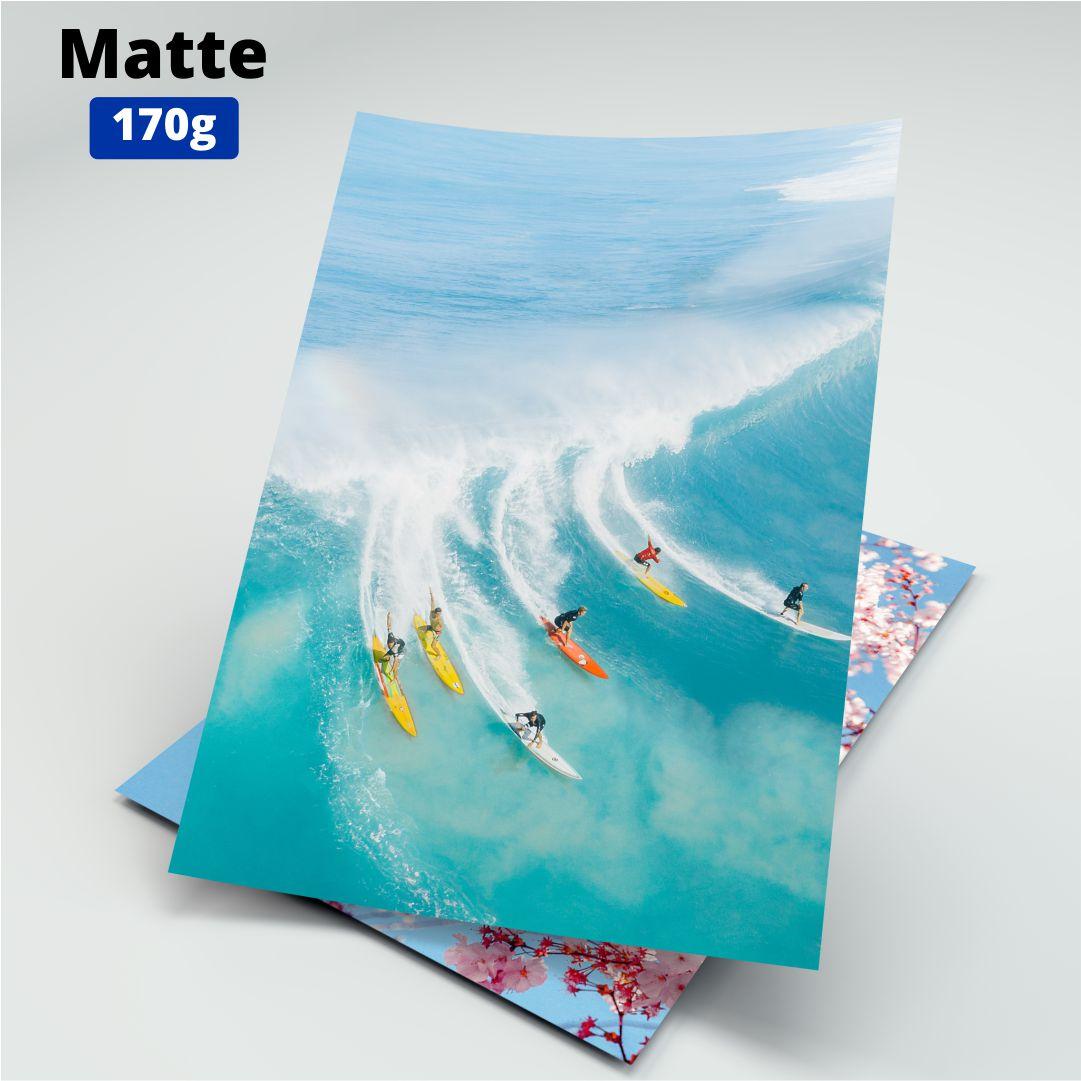Papel Fotográfico Matte - 170g - Masterprint - A4 - 100 Folhas