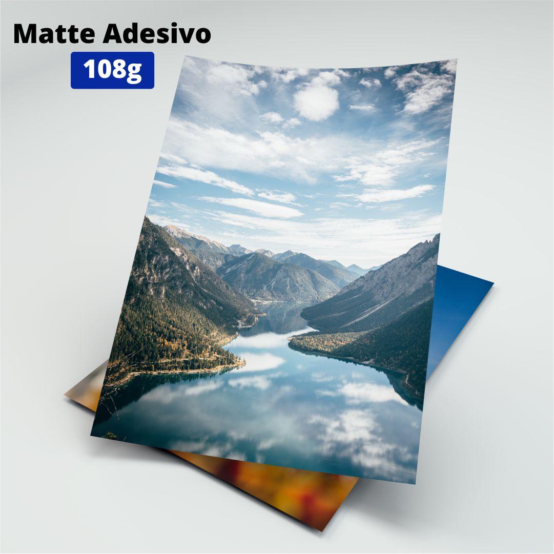 Papel Fotográfico Matte Adesivo - 108g - Masterprint - A4 - 20 Folhas