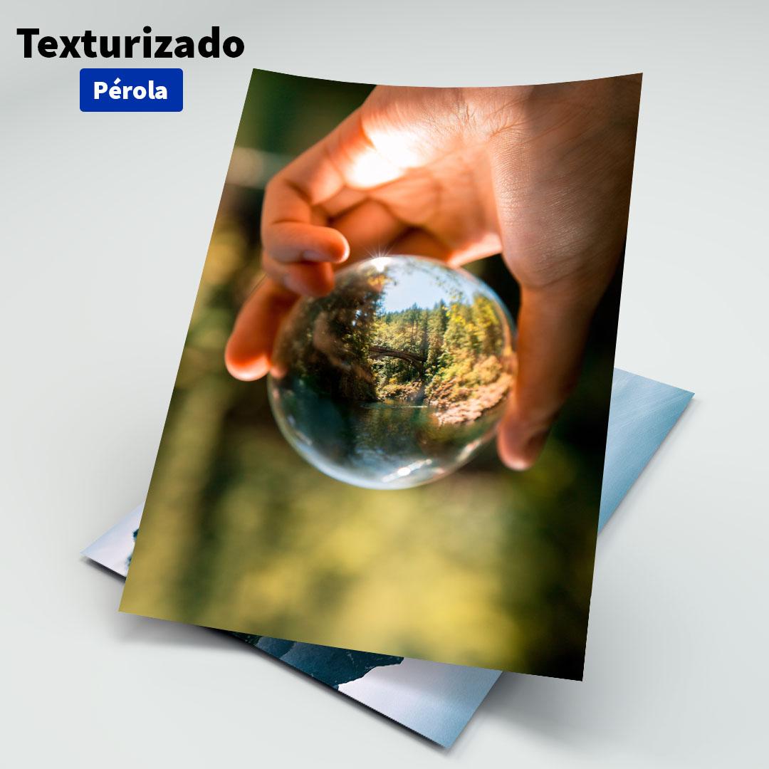 Papel Fotográfico Texturizado Pérola - 200g - Masterprint - A4 - 20 Folhas