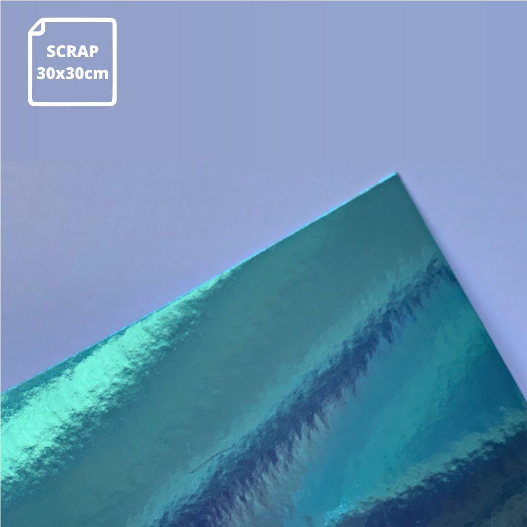 Papel Laminado Azul - 180g - Scrap - 30x30cm - 1 und - Metallik