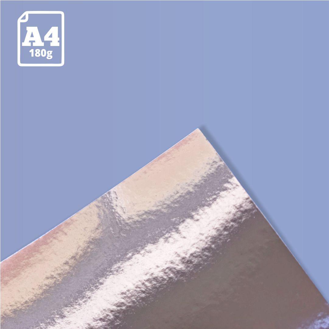Papel Laminado Nude - 180g - A4 - 1 und - Metallik