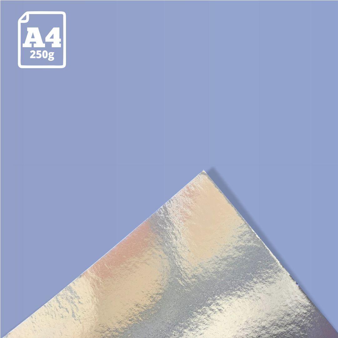 Papel Laminado Prata - 250g - A4 - 1 und - Metallik