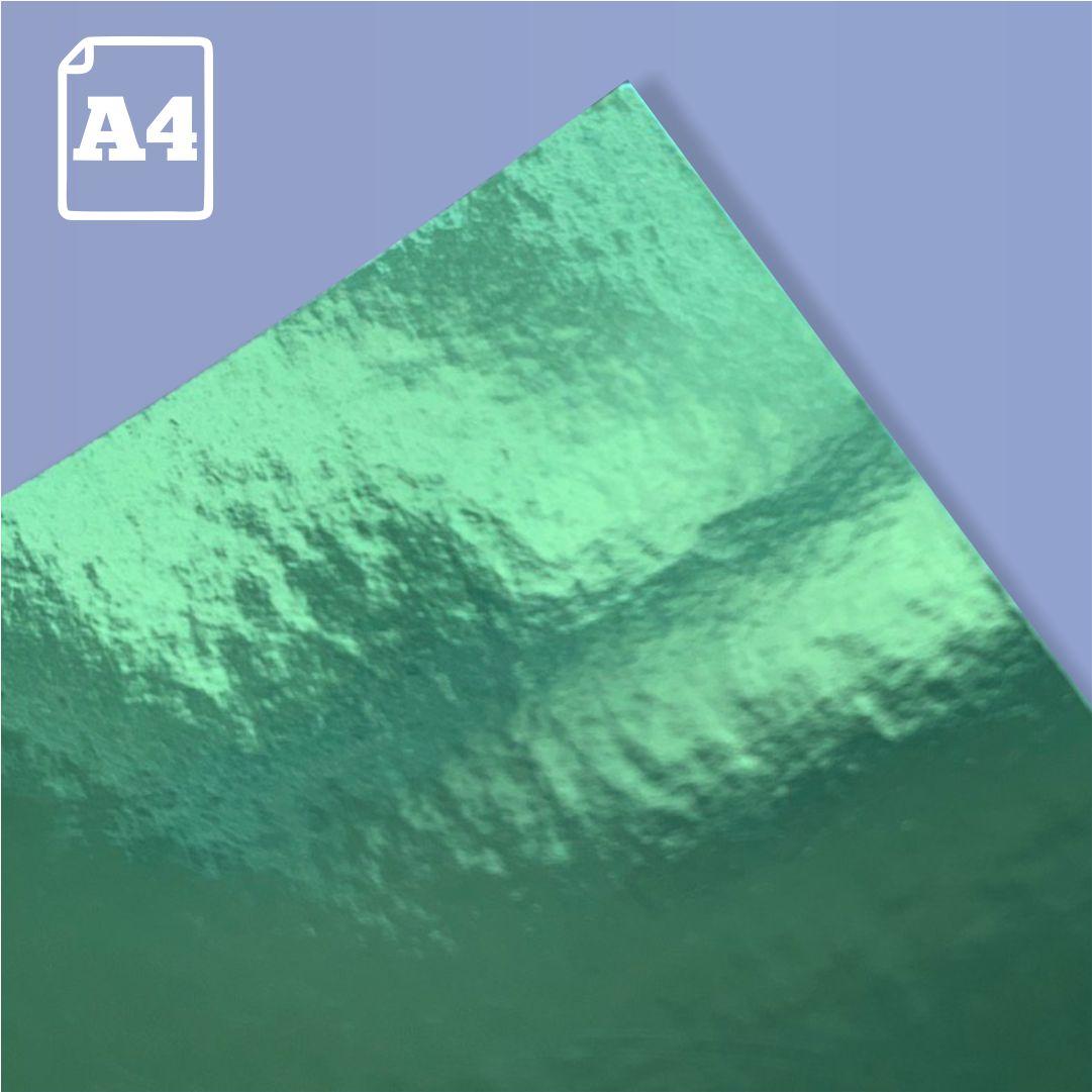 Papel Laminado Verde - 180g - A4 - 1 und - Metallik