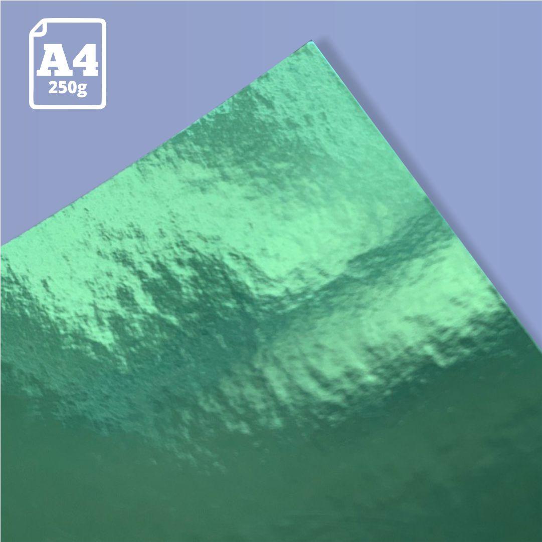 Papel Laminado Verde - 250g - A4 - 1 und - Metallik