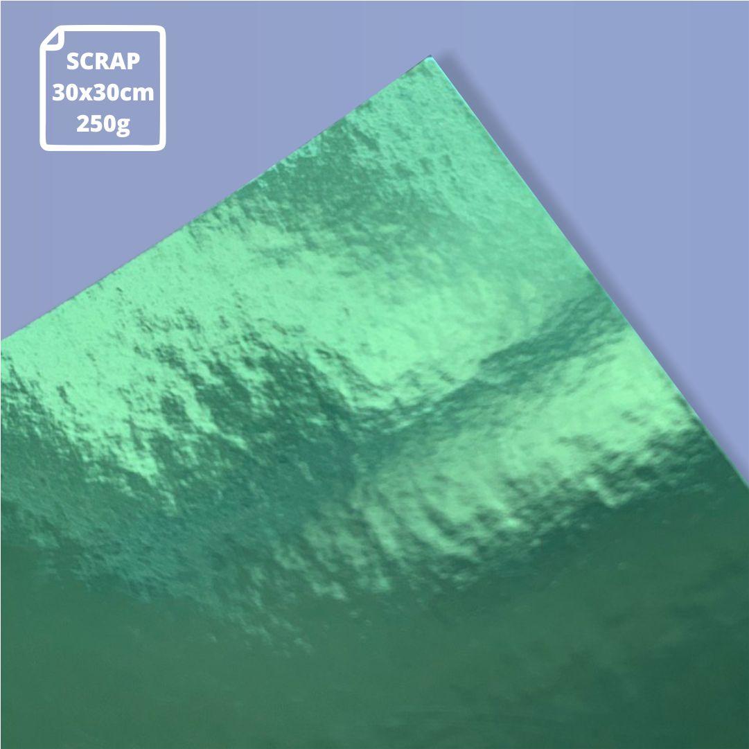 Papel Laminado Verde - 250g - Scrap - 30x30cm - 1 und - Metallik