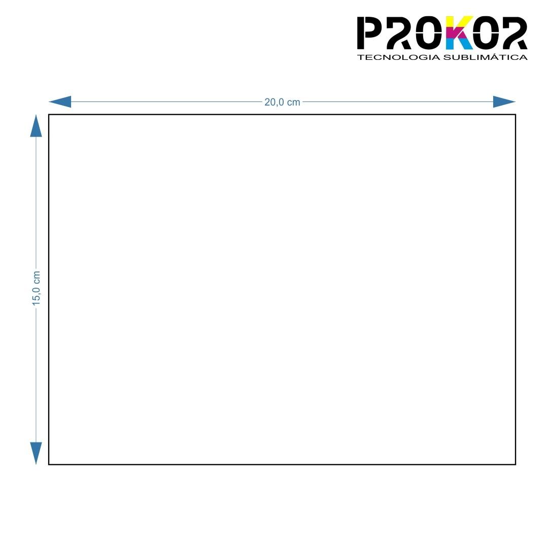Placa em MDF 20x15cm Para Sublimação - 3mm