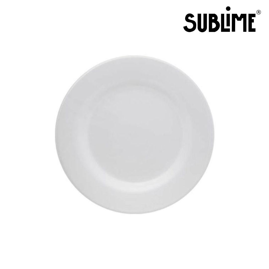 Prato Raso Para Sublimação Branco - 19cm - Sublime