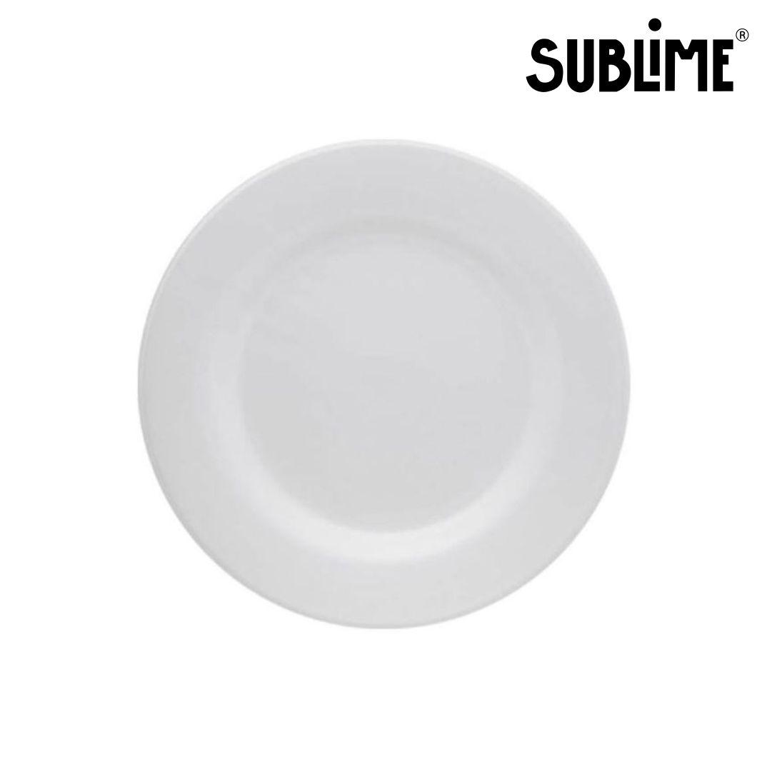 Prato Raso Para Sublimação Branco - 24cm - Sublime