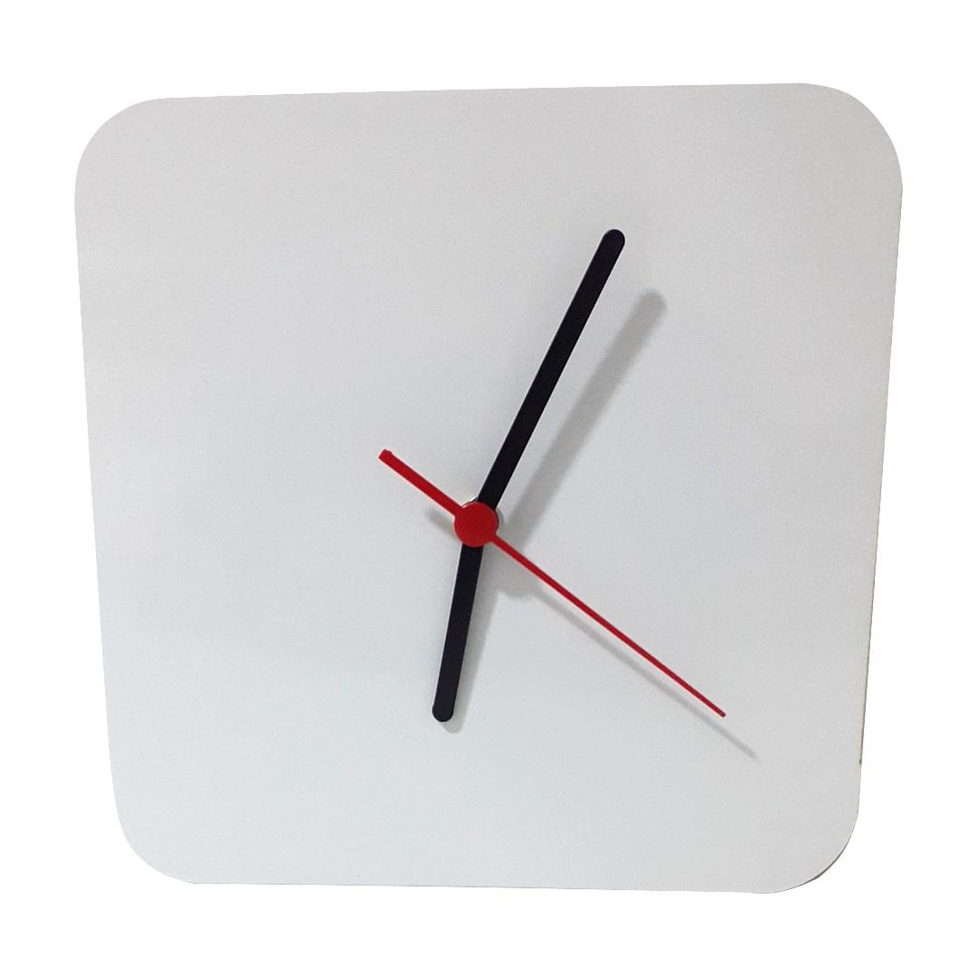 Relógio de Parede Quadrado em MDF Para Sublimação  - 20x20cm - com Relógio