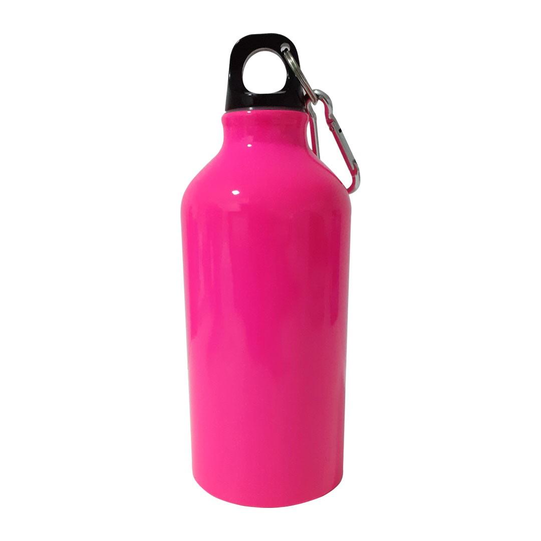 Squeeze de Alumínio Pink com Mosquetão Para Sublimação - 500ml