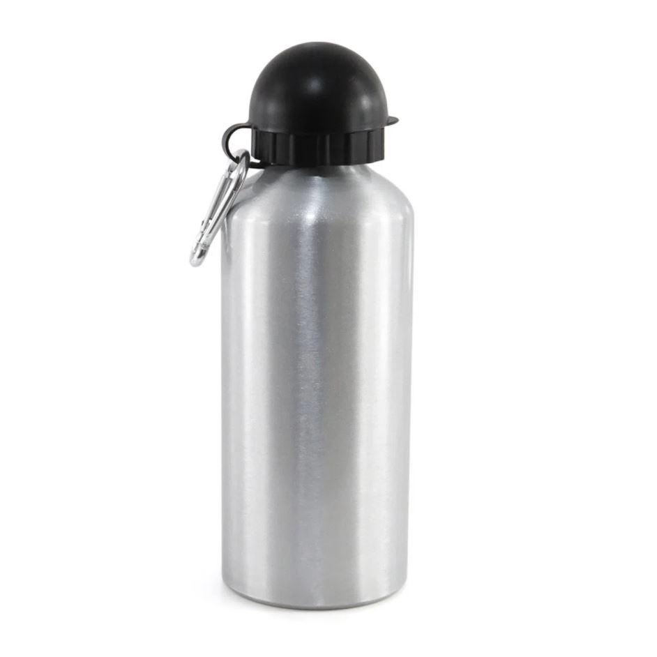 Squeeze de Alumínio Prata com Tampa Bola Para Sublimação - 500ml