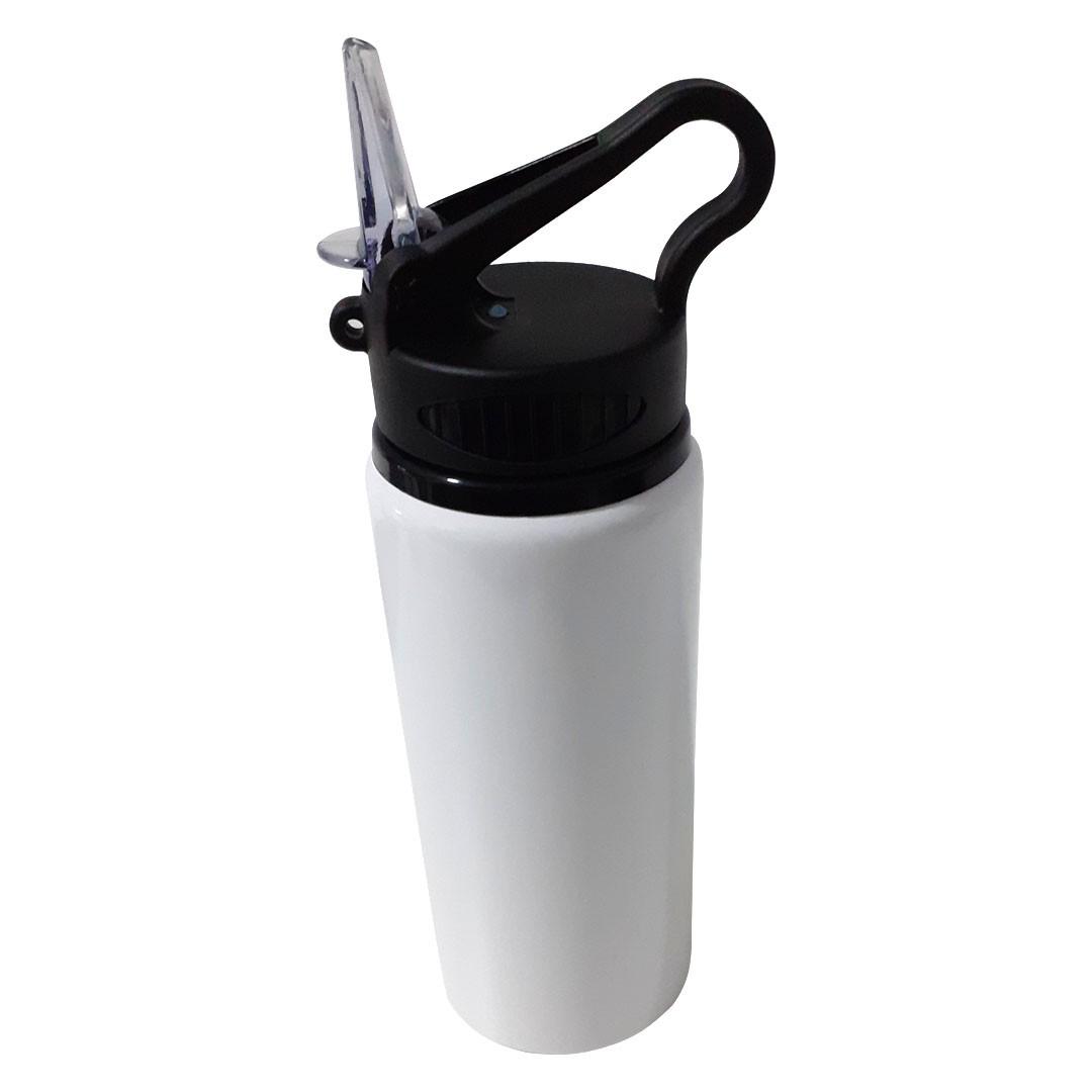 Squeeze de Metal Branco com Bico Retrátil Para Sublimação - 600ml