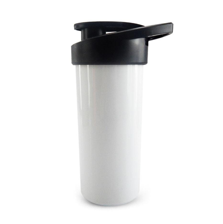Squeeze de Polímero Branco com Tampa Preta Para Sublimação - SFCT - 500ml