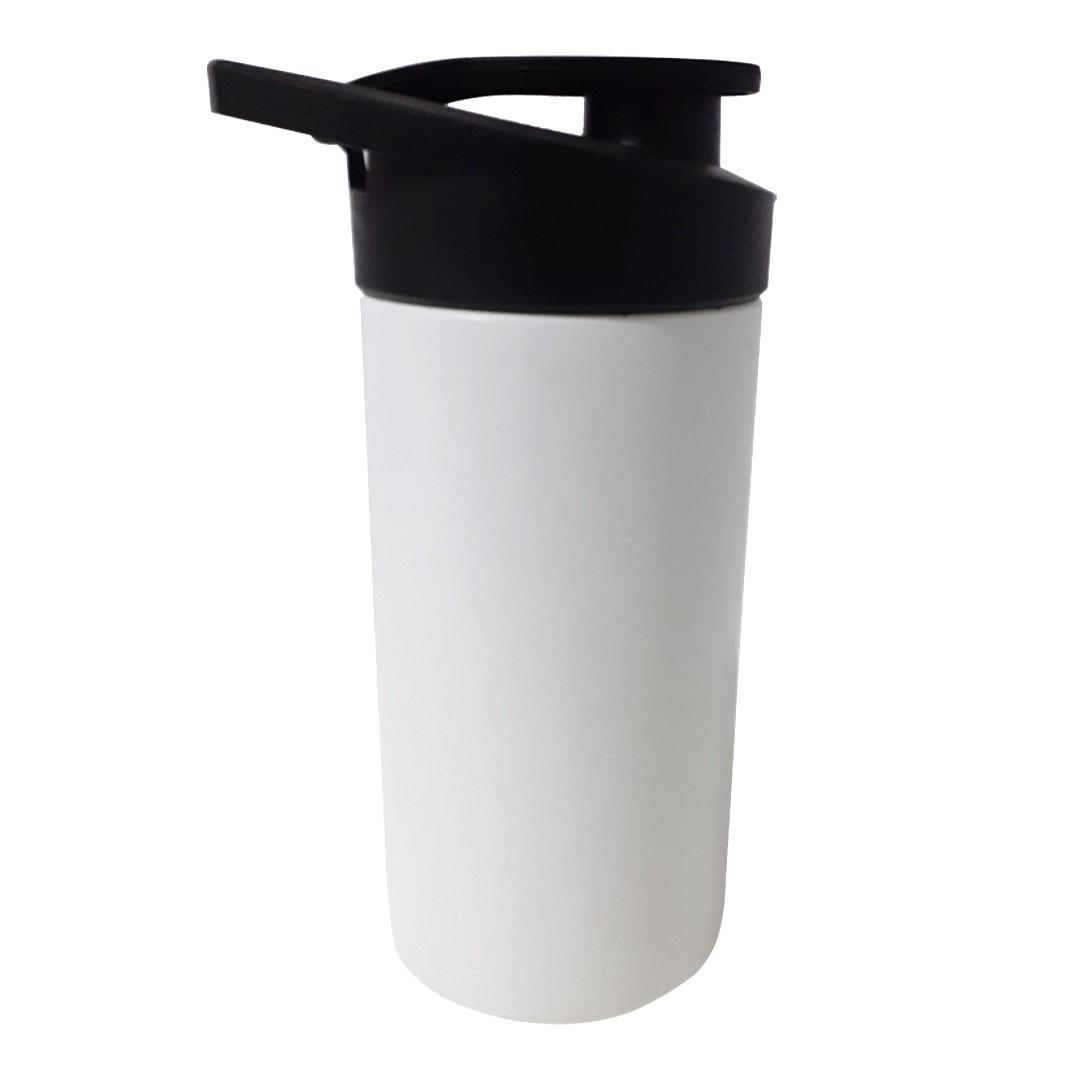 Squeeze Plástico Branco com Tampa Preta - Para Transfer - SFCT