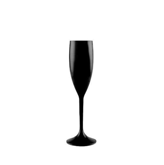 Taça Champanhe de Acrílico Preta