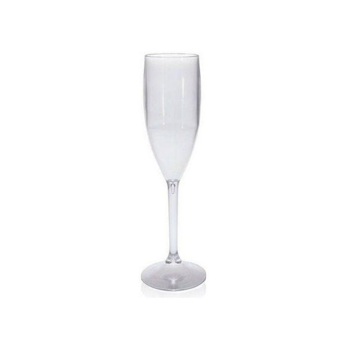 Taça Champanhe de Acrílico Transparente