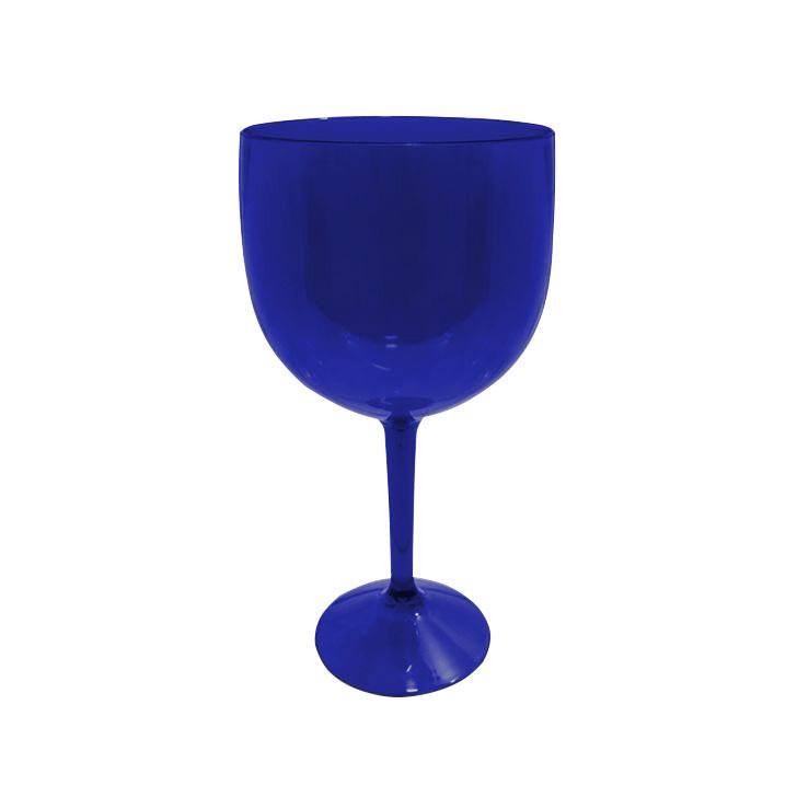 Taça de Gin Azul Neon de Acrílico Translúcido - 700ml