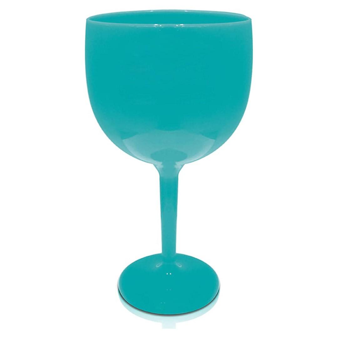 Taça de Gin Azul Tiffany de Acrílico