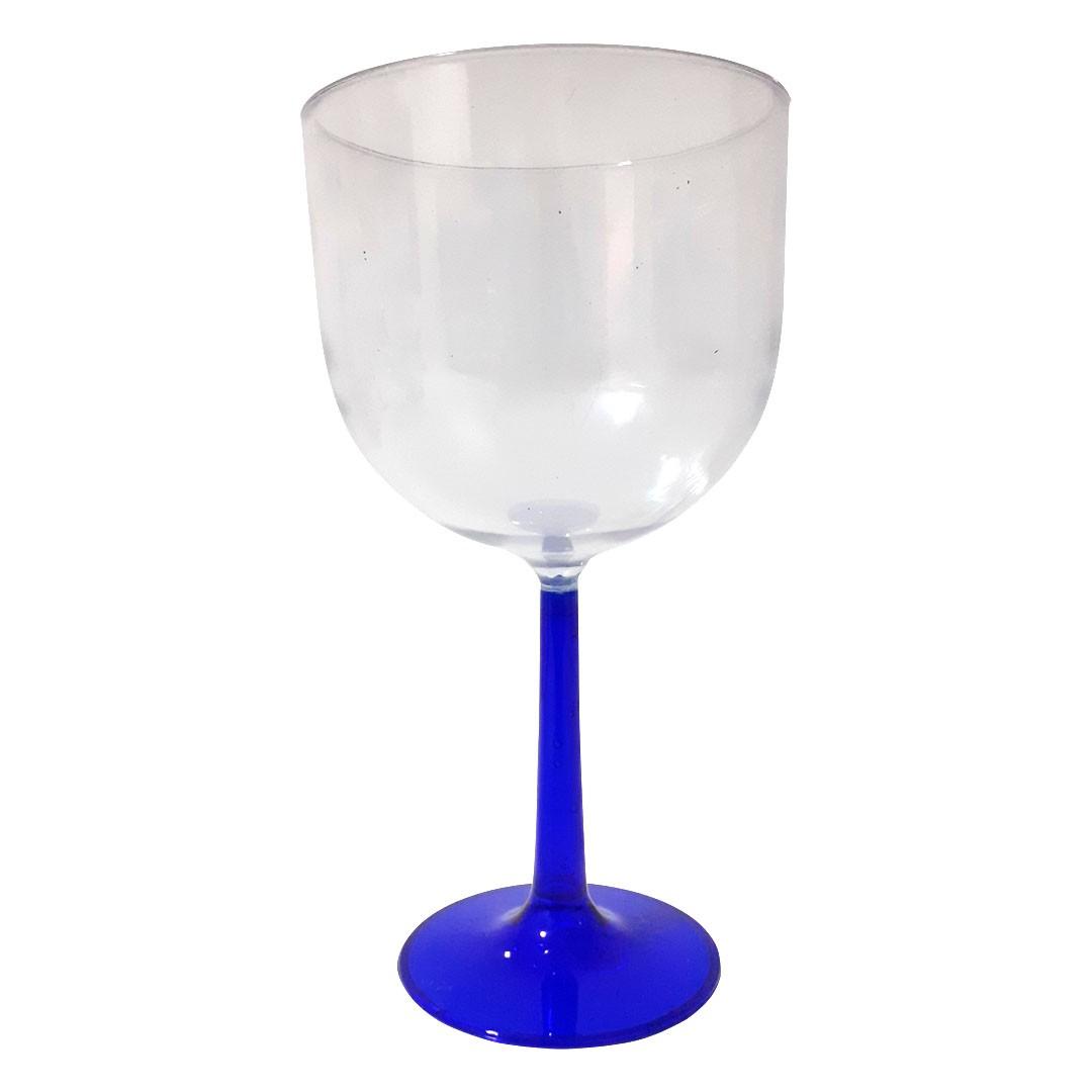 Taça de Gin Base Azul de Acrílico