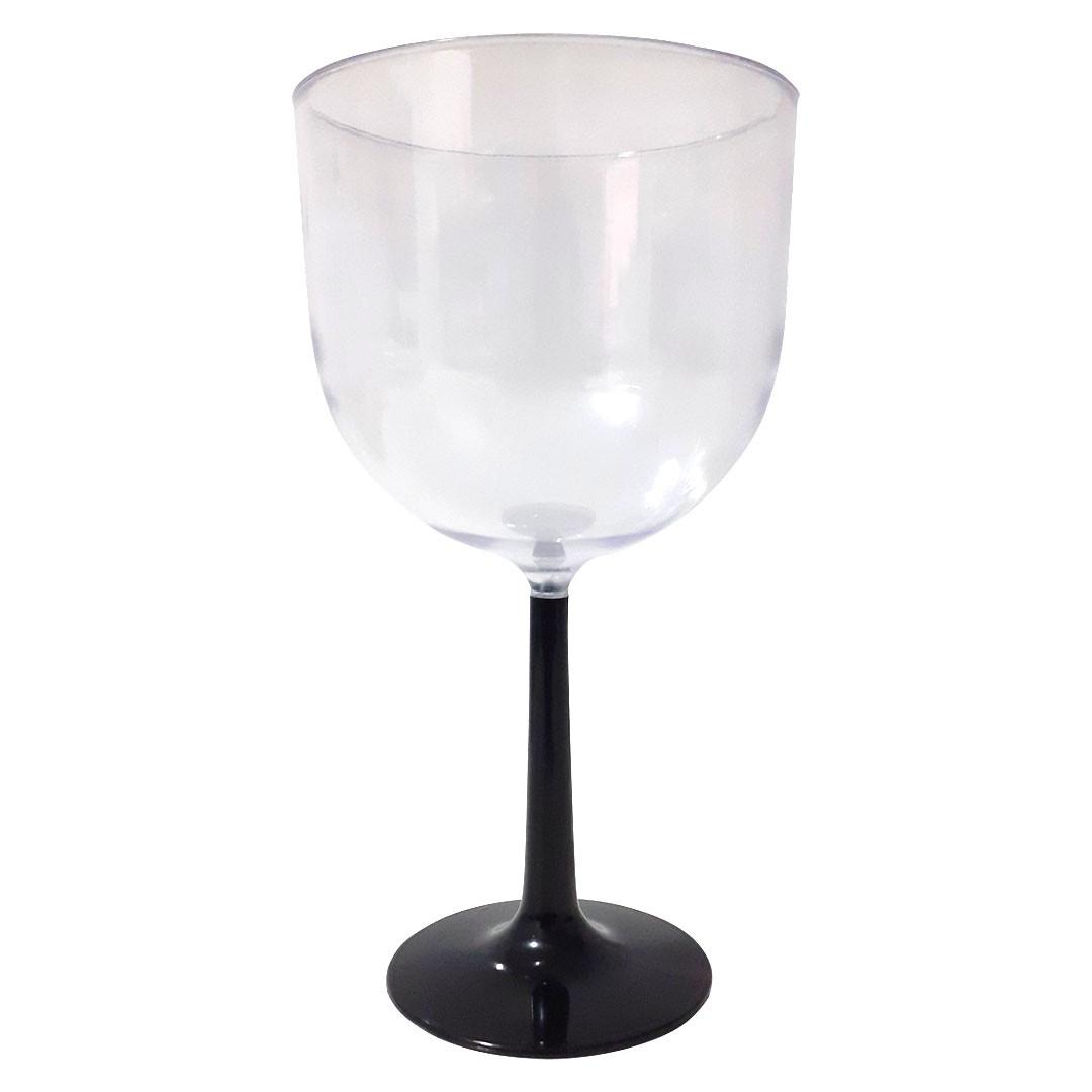 Taça de Gin Base Preta de Acrílico
