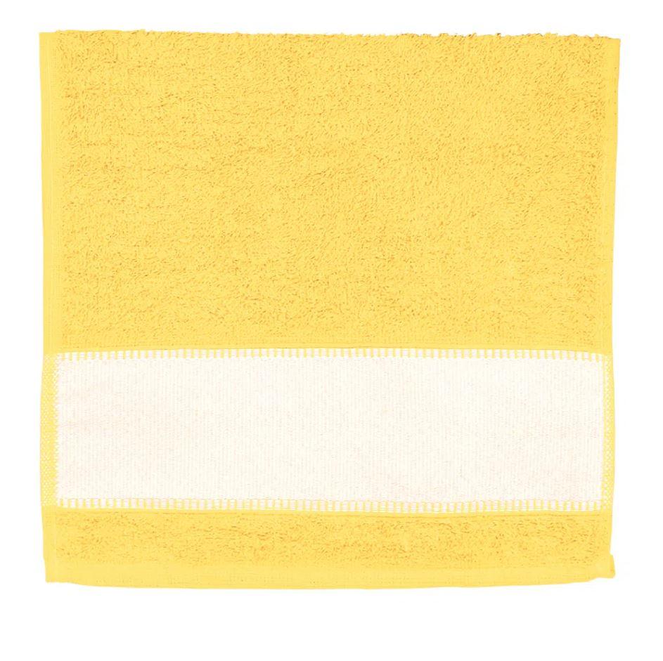 Toalha de Lavabo Para Sublimação - Amarelo Ouro