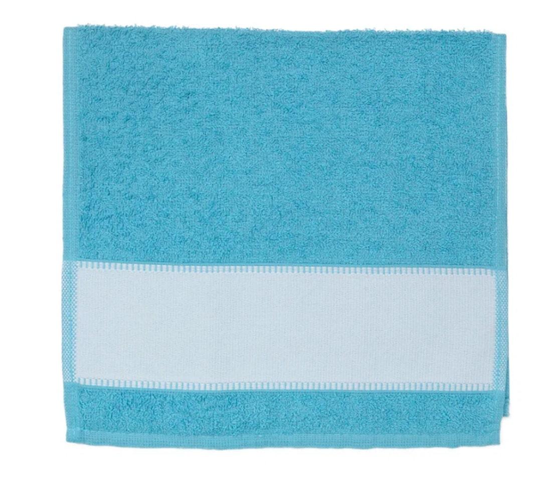 Toalha de Lavabo Para Sublimação - Azul Claro