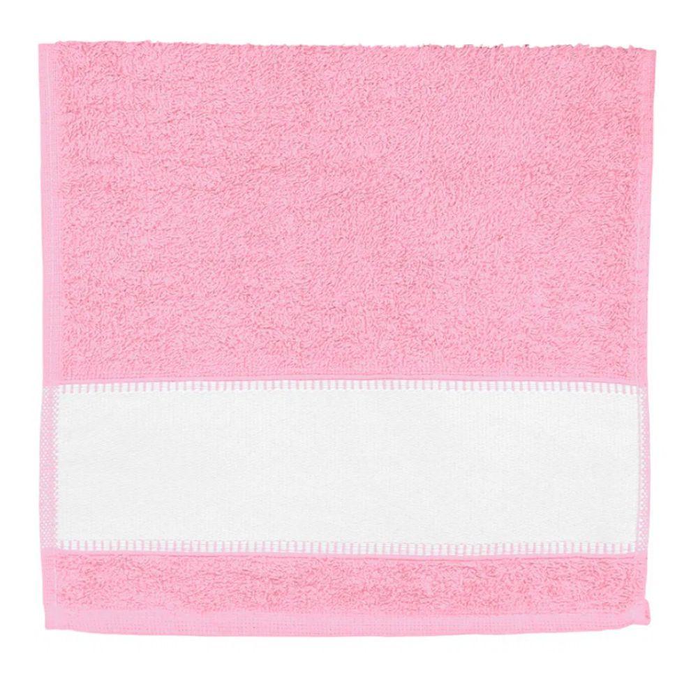 Toalha de Lavabo Para Sublimação - Rosa Claro