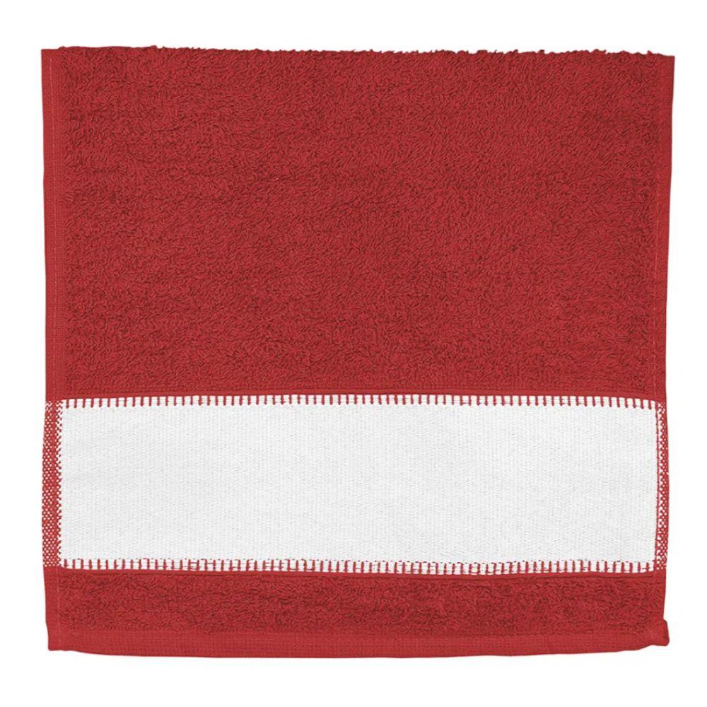 Toalha de Lavabo Para Sublimação - Vermelha