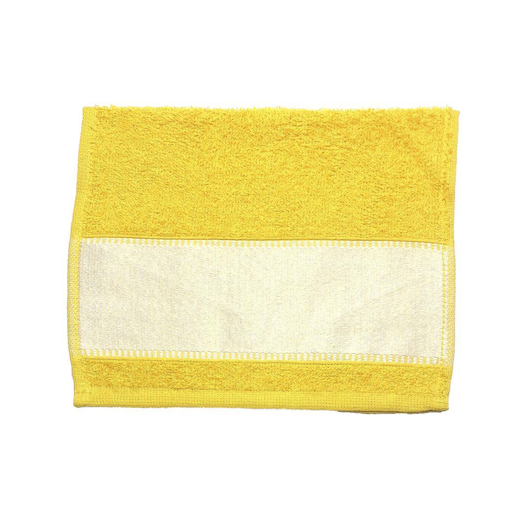 Toalha Lavabinho Para Sublimação - Amarelo Ouro