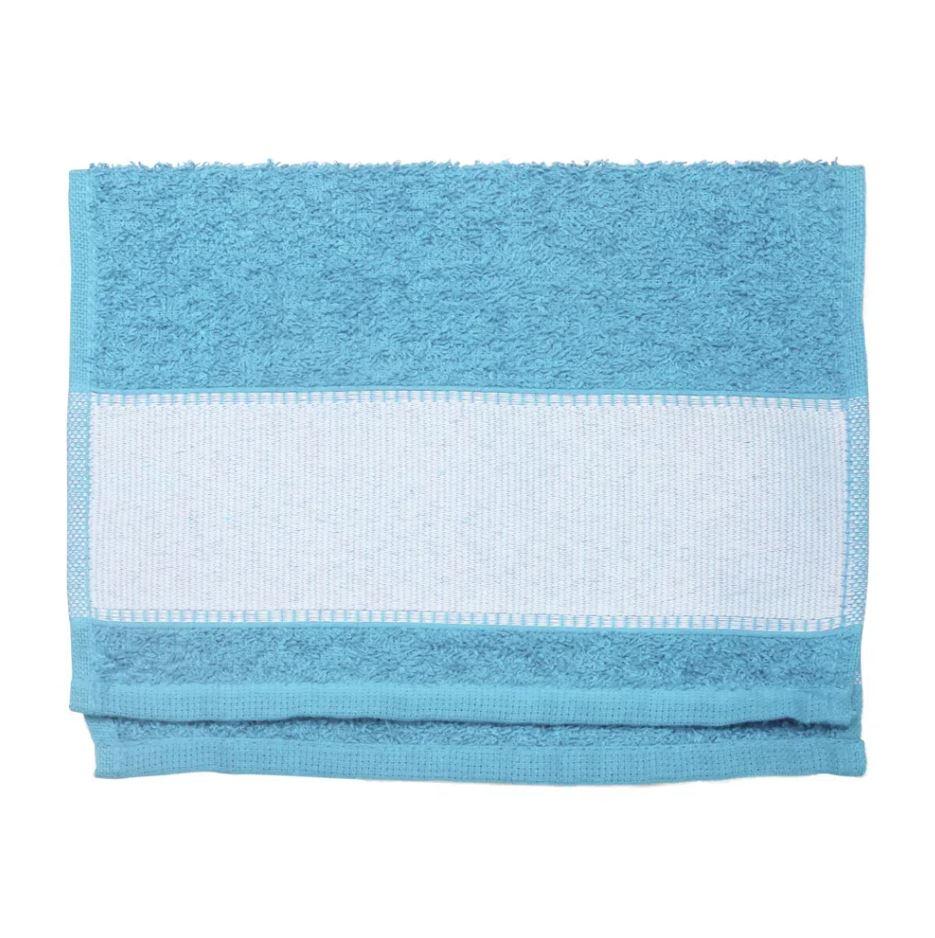 Toalha Lavabinho Para Sublimação - Azul Claro