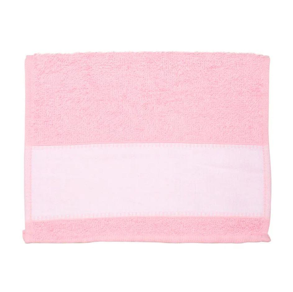 Toalha Lavabinho Para Sublimação - Rosa Claro