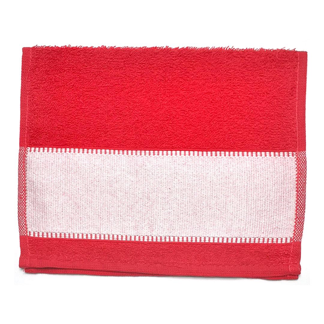 Toalha Lavabinho Para Sublimação - Vermelha