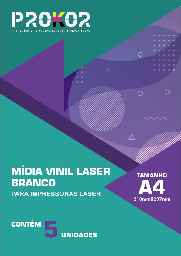 Vinil Laser Branco - A4 com 5 Folhas