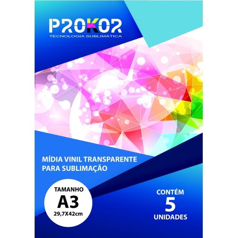 Vinil Transparente Para Sublimação A3 - Pacote com 5 Folhas
