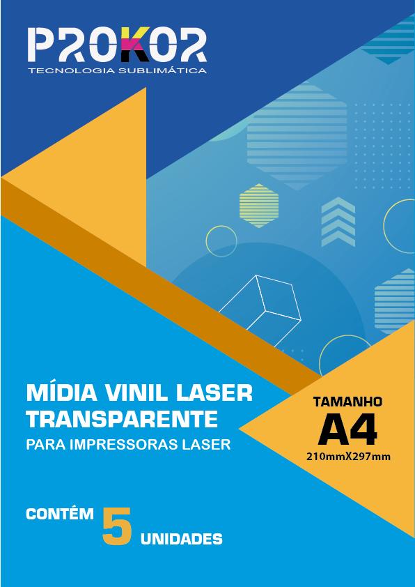 Vinil Transparente Para Sublimação A4 - Pacote com 5 Folhas