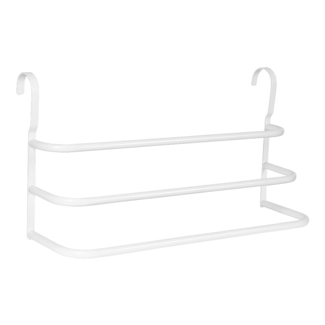 Porta Toalhas Triplo Toalheiro Para Box Branco 60cm