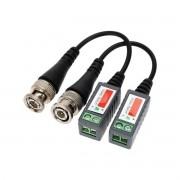 Par de Conector Balun conversor video câmeras CVBS AHD HDCVI HDTVI
