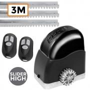 Motor Portão Deslizante Slider High 850Kg 220V RCG 3 Metros de Trilhos