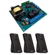 Placa Central P4000 Comando Motor Portão PPA e 3 Controles Pix