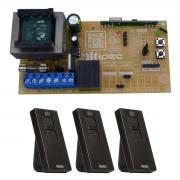 Placa Central X1 Universal Básica Comando Motor 3 Controles Pix