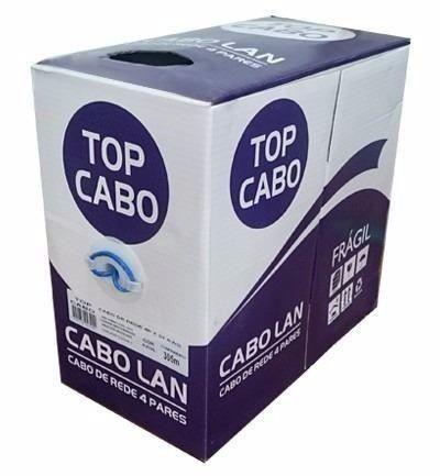 Cabo De Rede 4 Pares X 0,5 Caixa Com 300m Top Cabo